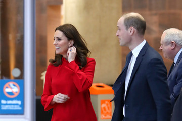 Kate Middleton Prince William The Duke and Duchess of Cambridge Attend 'Stepping Out' Session at Media City