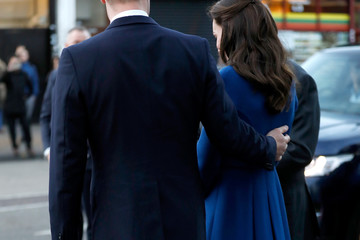Kate Middleton Prince William The Duke & Duchess Of Cambridge Visit A Child Bereavement UK Centre