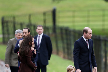 Kate Middleton Prince William The Royal Family Attend Church On Christmas Day