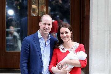 Kate Middleton Prince William The Duke & Duchess Of Cambridge Depart The Lindo Wing With Their New Son
