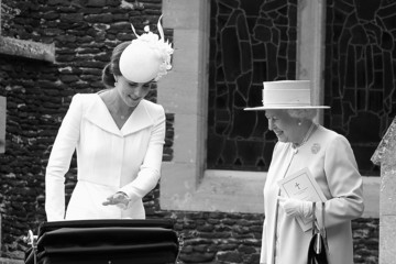 Kate Middleton Queen Elizabeth II The Christening of Princess Charlotte of Cambridge