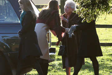 Kate Middleton Queen Elizabeth II The Royal Family Attends Christmas Day Service