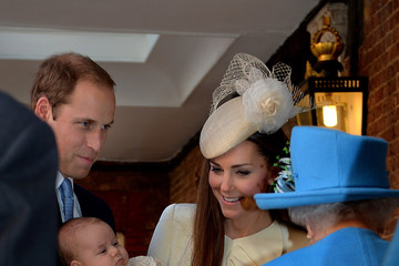 Kate Middleton Queen Elizabeth II Prince George of Cambridge Christened in London — Part 2