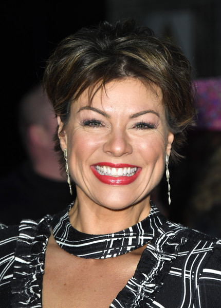 Kate Silverton Messy Cut [hair,face,lip,eyebrow,hairstyle,chin,beauty,forehead,nose,smile,kate silverton,national television awards,london,england,o2 arena,red carpet arrivals]