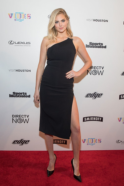 Kate Upton One Shoulder Dress