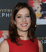 Actress Kate Walsh was a red hot siren at the launch of her fragrance in spicy crimson lipstick.