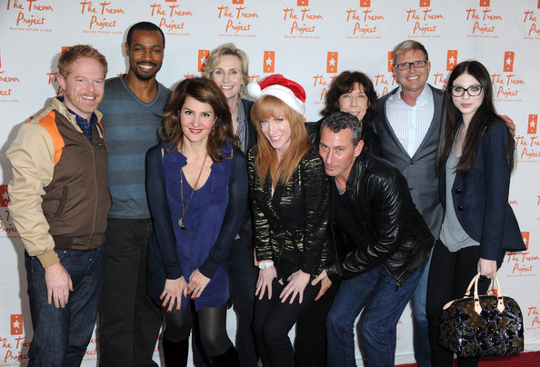 More Pics of Jane Lynch Layered Razor Cut (1 of 16) - Short Hairstyles Lookbook - StyleBistro [charles robins,actors,kathy griffin,isaiah mustafa,jesse tyler ferguson,adam shankman,the trevor project,aid,kathy griffin performs at the gibson amphitheatre,universal city walk]