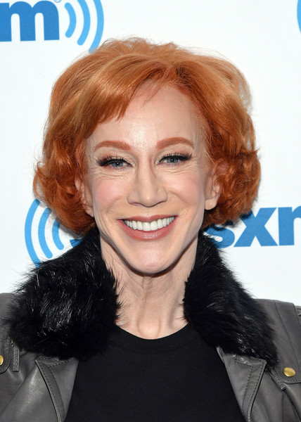 Kathy Griffin Curled Out Bob [photo,hair,face,hairstyle,blond,chin,eyebrow,hair coloring,lip,layered hair,brown hair,kathy griffin,celebrities,actress,new york city,siriusxm,siriusxm studios,visit]
