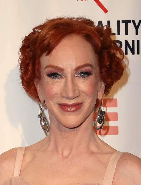 Kathy Griffin Short Curls [hair,face,hairstyle,eyebrow,chin,lip,ringlet,beauty,forehead,red hair,equality california,la equality awards,california,los angeles,l.a. live,arrivals,kathy griffin,j.w.]