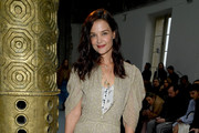 Katie Holmes Flat Boots