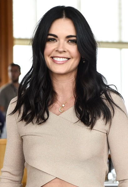 Katie Lee Long Wavy Cut [the top of the standard,hair,face,hairstyle,eyebrow,beauty,black hair,long hair,layered hair,brown hair,lip,katie lee,elvis duran,food network,rooftop rose,mohegan sun,the top,cooking channel,coca-cola,new york city wine food festival]