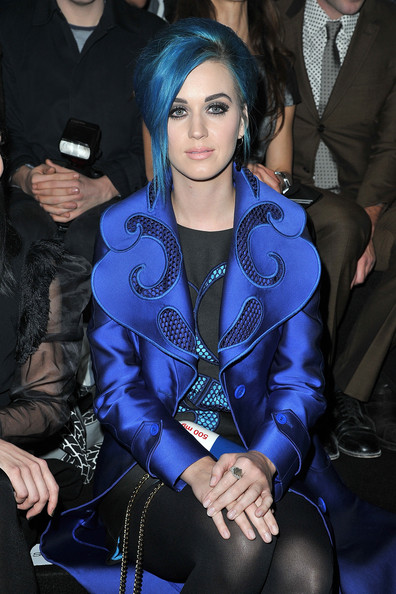 Katy Perry Gemstone Ring [cobalt blue,electric blue,fashion,black hair,haute couture,textile,outerwear,leg,thigh,event,winter 2012,katy perry,front row,ready-to-wear fall,part,paris,viktor rolf,paris fashion week womenswear fall,espace ephemere tuileries,show]