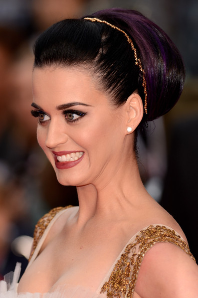 Katy Perry Headband [katy perry part of me,hair,hairstyle,face,eyebrow,beauty,chin,chignon,bun,lady,headpiece,katy perry: part of me 3d - european premiere,katy perry,england,london,empire leicester square,european premiere]
