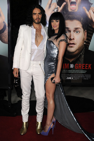 Katy Perry Peep Toe Pumps [get him to the greek,premiere,red carpet,carpet,fashion,leg,event,thigh,dress,fashion design,flooring,katy perry,russell brand,arrivals,actor,greek theatre,universal pictures,l,premiere,premiere]