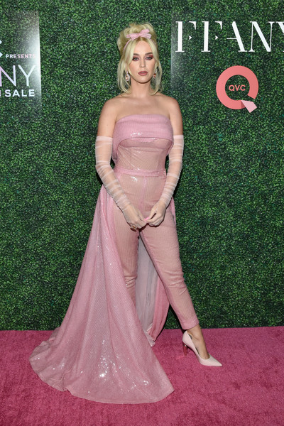 Katy Perry Pumps [ffany shoes on sale,red carpet,carpet,clothing,dress,gown,flooring,hairstyle,blond,lady,fashion,katy perry,gala,new york city,the ziegfeld ballroom,qvc presents,qvc]