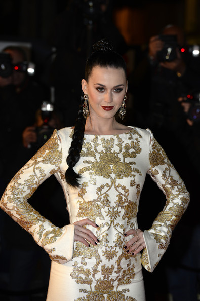 Katy Perry Dark Nail Polish [fashion model,fashion,clothing,shoulder,beauty,dress,haute couture,hairstyle,sleeve,neck,red carpet arrivals,katy perry,cannes,france,nrj music awards,palais des festivals]