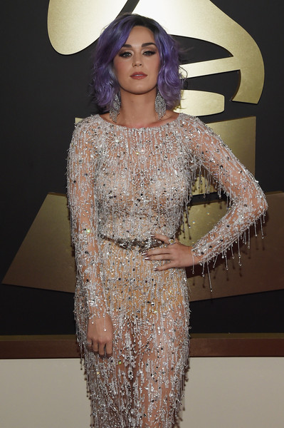 Katy Perry Metallic Nail Polish [red carpet,clothing,fashion,fashion model,dress,haute couture,beauty,neck,cocktail dress,lip,fashion show,katy perry,california,los angeles,staples center,57th annual grammy awards,the 57th annual grammy awards]