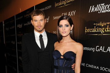 "Kellan Lutz Ashley Greene The Cinema Society With The Hollywood Reporter & Samsung Galaxy Host A Screening Of ""The Twilight Saga: Breaking Dawn Part 2"""