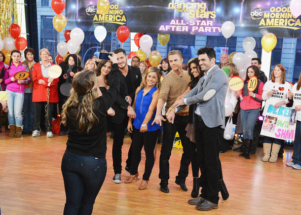 """""""Dancing With The Stars"""" Finalists Visit ABC's Good Morning America"""