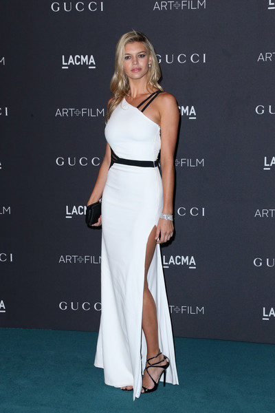 Kelly Rohrbach One Shoulder Dress [dress,clothing,shoulder,fashion model,gown,carpet,fashion,cocktail dress,joint,premiere,kelly rohrbach,james turrell,alejandro g inarritu,arrivals,lacma,los angeles,california,gucci,lacma 2015 art film gala]