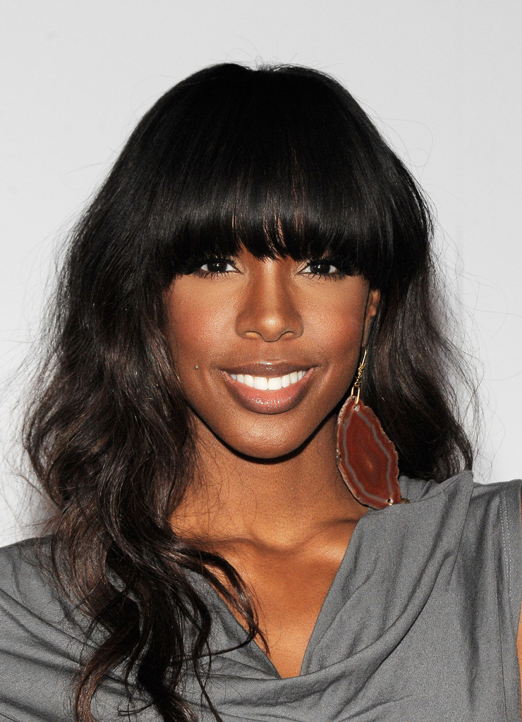 kelly rowland long curls with bangs kelly rowland hair
