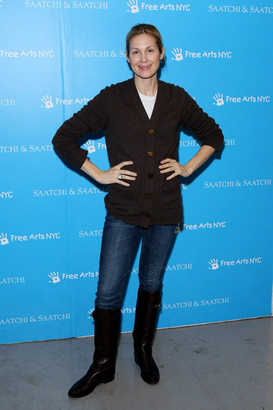 Kelly Rutherford Flat Boots