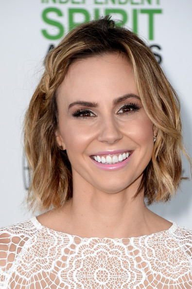 Keltie Knight Short Wavy Cut [hair,face,hairstyle,eyebrow,lip,blond,skin,shoulder,beauty,chin,arrivals,keltie knight,film independent spirit awards,santa monica beach,california]