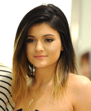 Kylie Jenner attended the launch of Kendall & Kylie for Madden Girl wearing a punky ombre 'do.