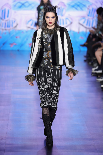 Kendall Jenner Fur Coat [shows,the shows,fashion model,catwalk,runway,fashion,fashion show,fashion design,haute couture,anna sui,kendall jenner,collection,skylight clarkson sq,anna sui - runway,runway,new york city,new york fashion week]