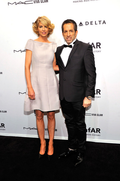 Kenneth Cole Bowtie [clothing,suit,formal wear,dress,tuxedo,fashion,cocktail dress,premiere,event,carpet,cipriani wall street,new york city,amfar new york gala to kick off fall 2013 fashion week,arrivals,kenneth cole,jenna elfman]