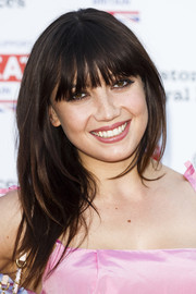 Daisy Lowe sported face-framing layers with blunt bangs at the Kensington Palace Summer Gala.