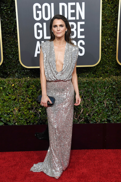 Keri Russell Sequin Dress [red carpet,clothing,carpet,dress,fashion,premiere,fashion model,shoulder,flooring,haute couture,arrivals,keri russell,the beverly hilton hotel,beverly hills,california,golden globe awards]