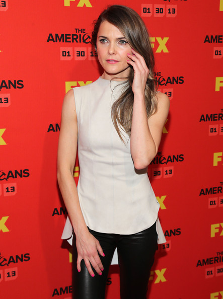 Keri Russell Fitted Blouse