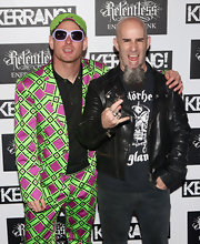 Corey Taylor looked totally quirky in his patterned suit, sun visor, and white-framed square sunnies at the Kerrang! Awards.