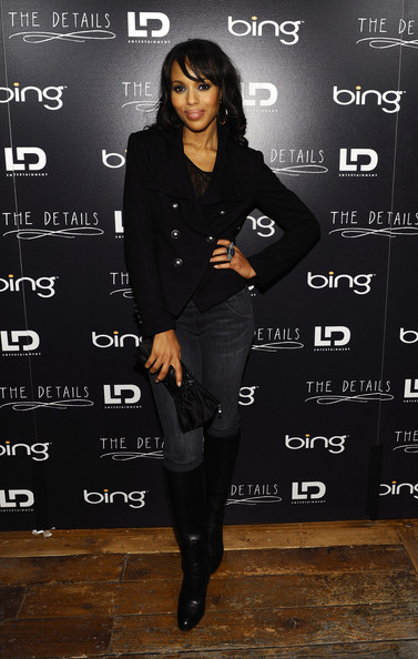 Kerry Washington Knee High Boots