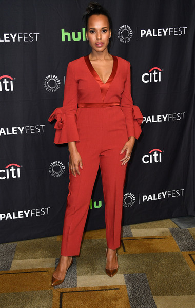 Kerry Washington Evening Pumps [scandal,red,flooring,fashion model,shoulder,suit,fashion,formal wear,carpet,red carpet,catwalk,kerry washington,arrivals,panel,los angeles,dolby theatre,california,paley center for media,paleyfest,screening]
