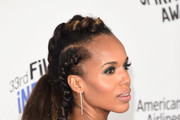 Kerry Washington Long Partially Braided