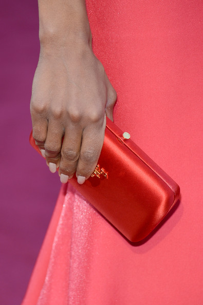 Kerry Washington Pink Nail Polish