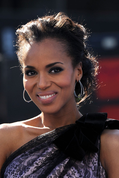 Kerry Washington Bobby Pinned Updo