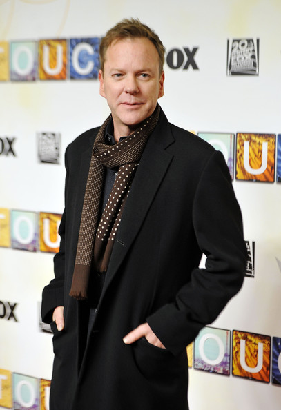 Kiefer Sutherland Patterned Scarf