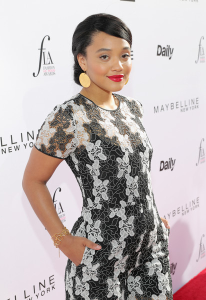 Kiersey Clemons Link Bracelet [red carpet,hair,clothing,hairstyle,dress,fashion model,fashion,cocktail dress,lip,shoulder,premiere,kiersey clemons,west hollywood,california,sunset tower hotel,daily front row,3rd annual fashion los angeles awards]
