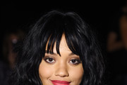 Kiersey Clemons Medium Curls with Bangs