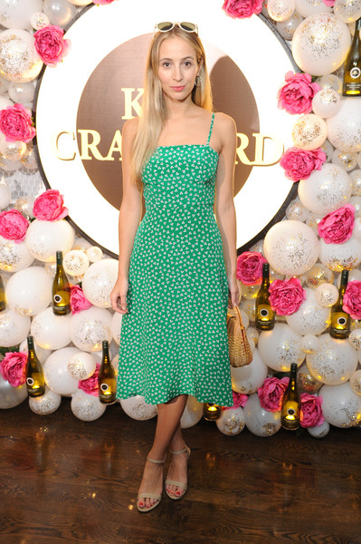 Harley Viera-Newton chose a breezy green sundress for the Kim Crawford Wines event.