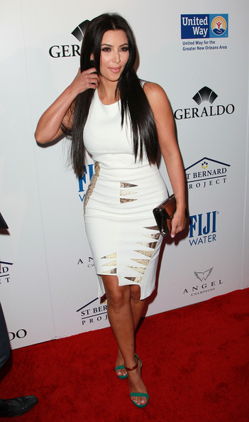 Kim Kardashian Cocktail Dress [southern style,clothing,white,dress,shoulder,cocktail dress,fashion model,carpet,red carpet,fashion,long hair,arrivals,kim kardashian,family,spears,residence,beverly hills,california,st. bernard project,the spears family presents an evening]