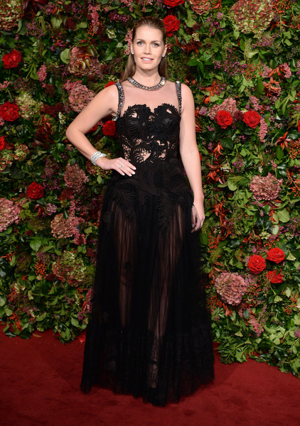 Kitty Spencer Sheer Dress [dress,gown,clothing,carpet,red,formal wear,lady,fashion,fashion model,haute couture,red carpet arrivals,kitty spencer,evening standard theatre awards,london,england,theatre royal]