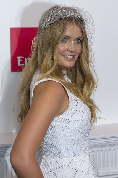 Kitty Spencer Headdress [hair,clothing,white,blond,beauty,hairstyle,long hair,fashion,headgear,fashion accessory,celebrities,kitty spencer,melbourne,australia,flemington racecourse,emirates marquee,melbourne cup day]
