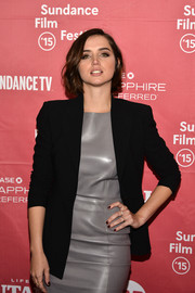 Ana de Armas teamed an oxblood mani with her gray and black outfit at the Sundance Film Festival premiere of 'Knock Knock.'