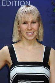 Zosia Mamet kept it casual with this short straight 'do at the Kohl's MILLY for DesigNation cocktail party.