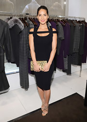 Olivia Munn looked sassy in this cutout LBD at the Kors Collaboration gathering.