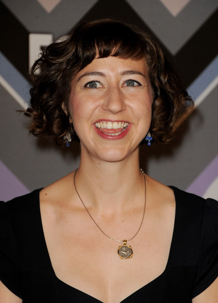Kristen Schaal Curled Out Bob [kristen schaal,fox all-star party - arrivals,hair,hairstyle,chin,eyebrow,lip,smile,brown hair,neck,fashion accessory,layered hair,fox all-star party,pasadena,california,langham huntington hotel]